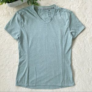 Adidas climalite mint green v neck top small